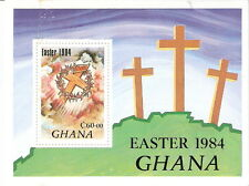 Ghana 1984 Easter Crosses Crown Thorns Souvenir Sheet MNH (SC# 911)