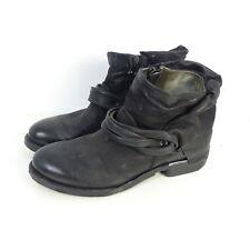 AS98 Airstep Stiefelette Boots Stiefel Leder Schwarz Gr. EUR 40 (H27)