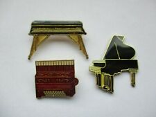 GRAND PIANO KEYBOARD ORGAN SQUEEZEBOX ACCORDIAN MUSIC JOB LOT ENAMEL PIN BADGE