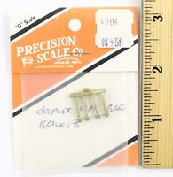 Precision Scale HO #3339 Brackets for Coupler Lift Bar Brass Casting HOn3
