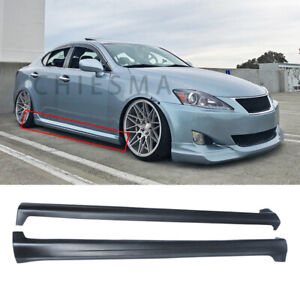 Side Skirts For 2006-2013 Lexus IS250 IS350  Extension Lip Body Kit Matte Black