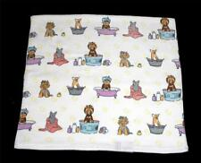 Varied Colorful Grooming Dogs Get Clean in Clawfeet & Other Tubs Bath Towel Nwt