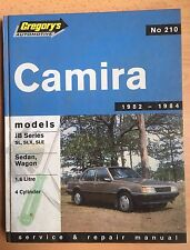 Holden Camira JB Series SL SLX Service Repair manual 1982-1984 Gregory's No.210