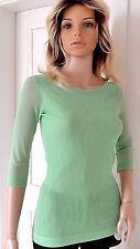 RINASCIMENTO Damen Shirt S M 36 38 Polyamid Türkis Top
