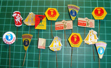 Dokkum Turkstra beschuit pin badge lapel Dutch speldje 60's anstecknadel 15pcs