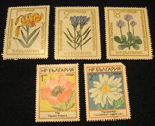 5 Briefmarken · Bulgarien · Blumen · Konvolut