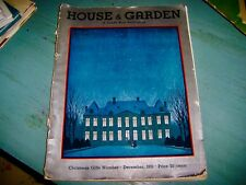 RARE Antique Vintage HOUSE & GARDEN Magazine Christmas Gifts December 1931 Issue