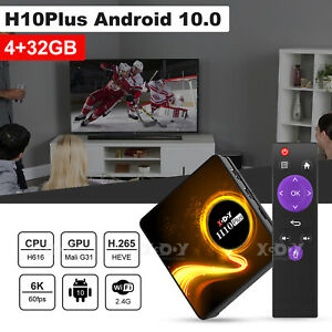 Android 10.0 TV BOX 2021 H616 Smart 6K for Netflix Prime Video Disney 4GB+32GB