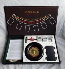 More details for las vegas casino 3 in 1 trio wooden craps/roulette/ blackjack table set.