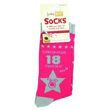"""Boofle """"Extra Special 18 Year Old"""" Woven Socks Ladies"""