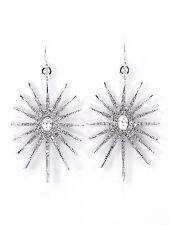 Drop Dangle Rhinestone Snowflake or Sunburst Women Fashion Jewelry Earrings