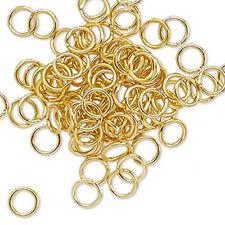100 Gold Plated Open 6MM Jump Rings 20 Gauge Jumprings Findings