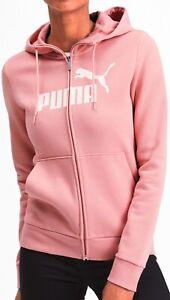 Puma Essentials Logo Womens Fleece Hoody - Pink