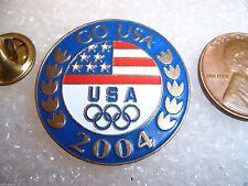 Olympic Lapel Pin Go USA 2004