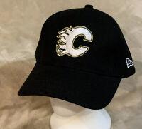 Calgary Flames New Era Adult OSFA Black Strapback Hat Cap NHL Hockey Canada
