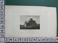 1808 Datierter Klein Antik Aufdruck ~ Südsee Blick Dunstaple Kirche ~