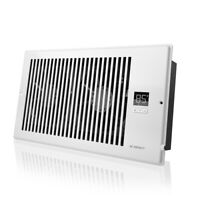 "AIRTAP T6, Quiet Register Booster Fan, Heating / Cooling 6 x 12"" Registers White"
