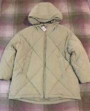 Zara Padded Puffer Coat. Mint. Size L