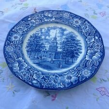Liberty Blue Independence Hall 10 inch plate  lovely condition