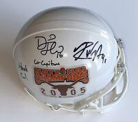 Texas Longhorns signed mini helmet 2005 national champs David Thomas Rod Wright