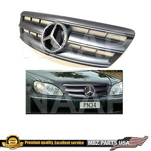 2003 2004 2005 2006 S-Class matte black grille chrome star AMG S430 S55 S500 New