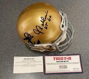 Joe Bellino  1960 Autographed Navy Midshipmen mini helmet TriStar Cert