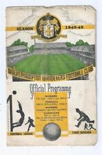 FA Cup Home Teams S-Z Written - on Football Programmes