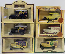 VEHICLES : SET OF 6 1934 CHEVROLET DELIVERY VANS MADE BY LLEDO (DT) 143