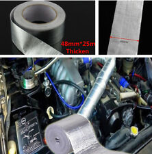 Universal Car 48mm x 25m Heat Shield Tape Adhesive Backed Resistant Wrap 450℃