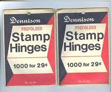 HARD TO FIND 2000 DENNISON STAMP HINGES.(2) THE BEST STAMP HINGE EVER MADE