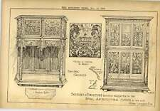 1900 Furniture Bequeathed By Henry Vaughan Oak Cabinets