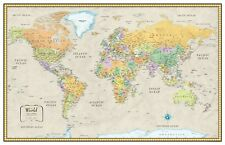 32x50 Rand McNally Style Classic World Wall Map Mural Poster by RMC