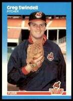 1987 Set Break Greg Swindell Rookie Cleveland Indians #U-116
