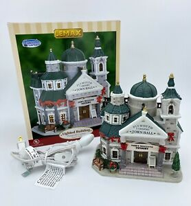 Lemax Village Collection Town Hall Lighted Building Christmas Village 2006 65368