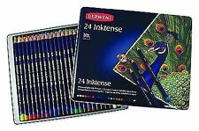 Derwent Inktense 24 Coloured Ink Pencils Tin Set 0700929