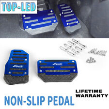 Non-Slip Pedal Brake Foot Cover Set Treadle Belt Car Automatic Accelerator Blue