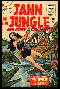 Jann of the Jungle #8 (#1) Very Nice First Issue Golden Age Atlas Comic 1955 FN+
