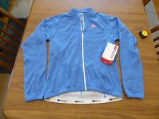 Sugoi Hotshot True Blue Long Sleeve Jersey Women's Medium New With Tags!