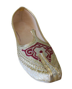 Men Shoes Wedding  Khussa Designer Jutties Traditional Mojaries Flat US 7-12