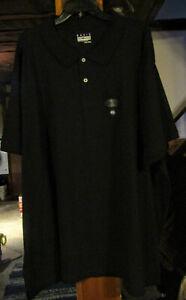 BASIC EDITIONS BIG MENS SIZE 5XLT DRESS/CASUAL POLO SS SHIRT- BLACK NWT