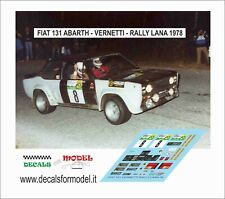 DECALS FIAT 131 ABARTH VERNETTI RALLY LANA 1978