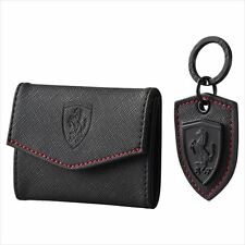 Puma Ferrari LS Black Men's Credit Card Wallet Keychain Set