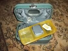 1960s Mid Century Skyway Suitcase W/Mirror & Keys Cosmetic Make Up Train Luggage