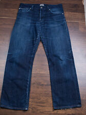 Men's Naked and Famous Slim Guy Indigo Broken Twill Selvedge Jeans Sz 33 x 28.5