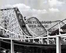 1960 CONEY ISLAND AMUSEMENT PARK WILDCAT WOOD ROLLER COASTER PHOTO CINCINNATI OH
