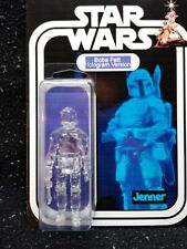Star Wars Boba Fett Hologram Custom made 3.75 Vintage Kenner Style Figure