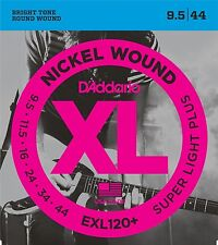 3 x D'Addario EXL120+ Electric Guitar Strings 9.5-44. 3 SEPARATE PACKETS