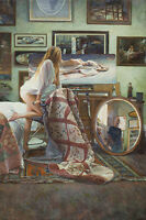 """In the Artist's Studio"" Steve Hanks Limited Edition Fine Art Giclee Canvas"