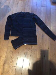 Rick Owens Gray Sub Shred Mix Long Sleeve Sweater XS