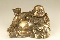 chinese old bronze hand casting buddha monk statue figure